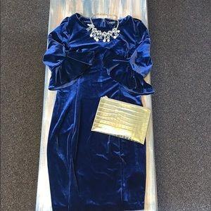 DKNY blue velvet dress. Women's 10.